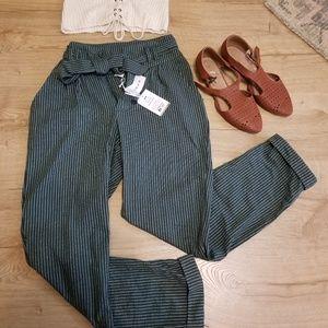 Me to we pacsun striped tie waist pants paper bag